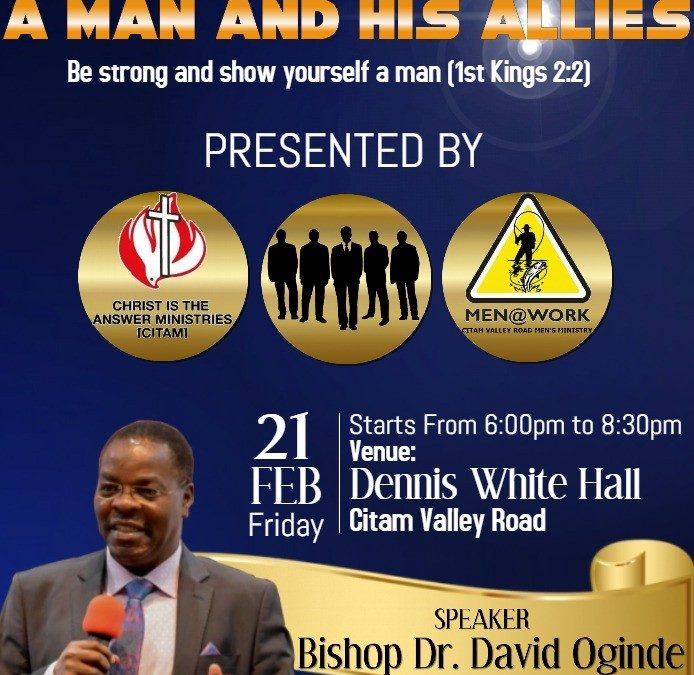 CITAM to hold men's conference at Valley Road