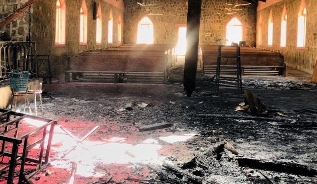 Churches set ablaze in Northern Nigeria