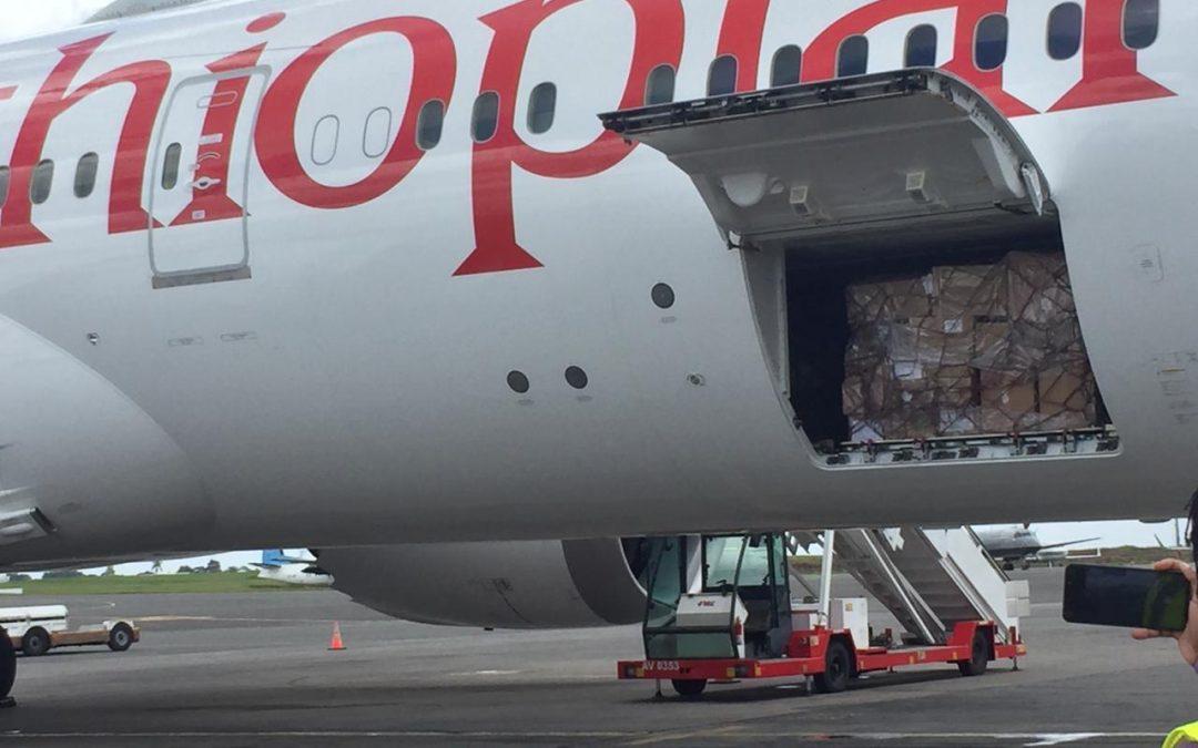 Jack Ma consignment of corona text kits and masks arrives in Kenya