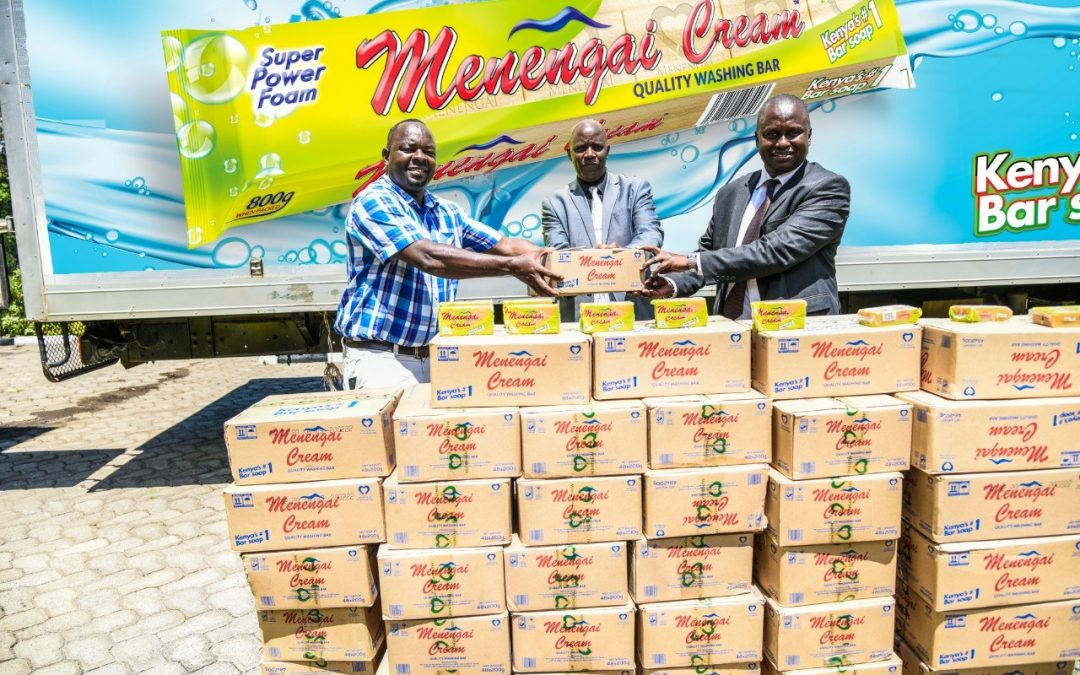 MENENGAI OIL DONATES BAR SOAPS TO RED CROSS IN EFFORTS TO CURB COVID 19