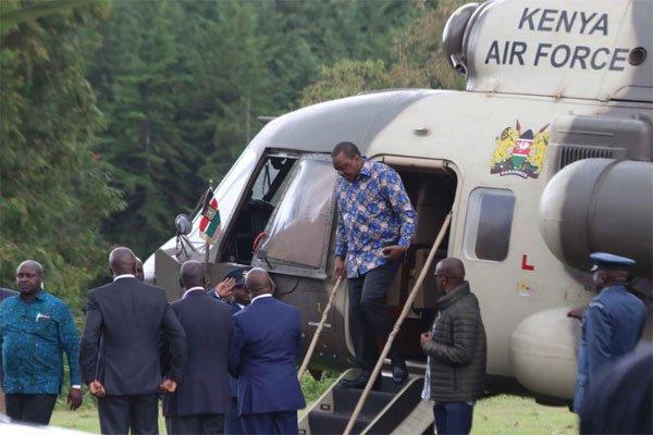 President Uhuru Condoles with family of Police Inspector Pius Cheboswony