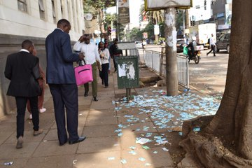 City littered with garbage as county cleaners strike