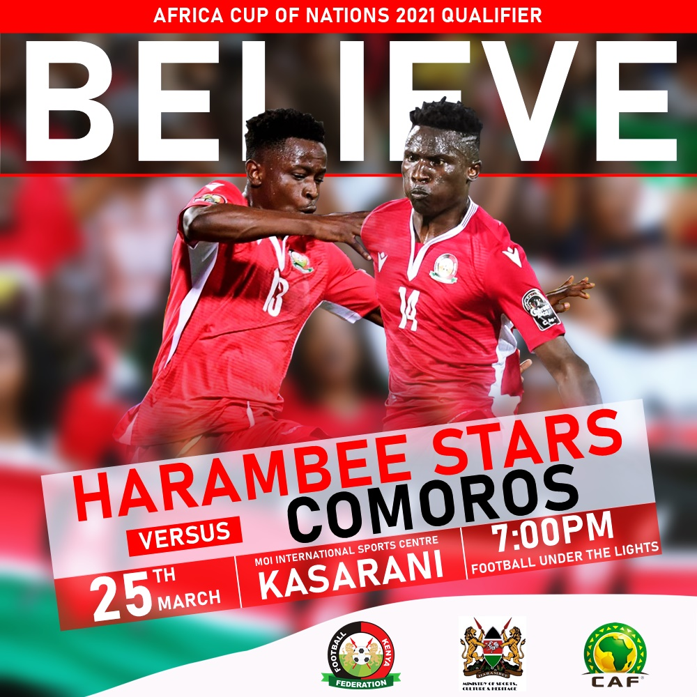 Harambee Starts in camp for match against Comoros