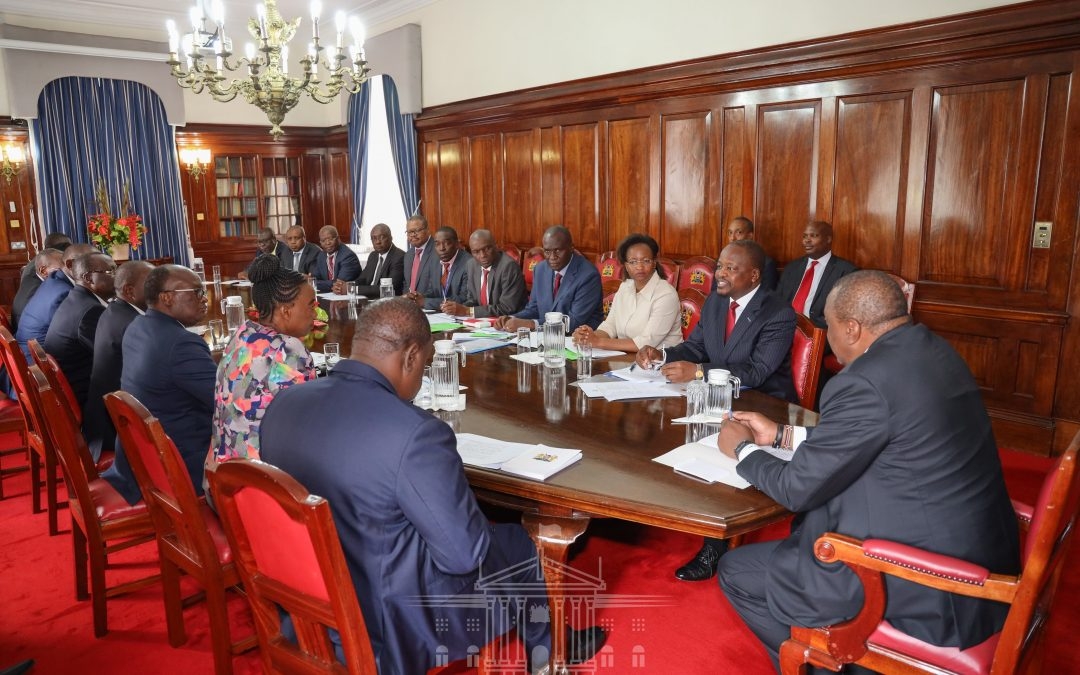 President Uhuru receives initial report of  National Emergency Response Committee on COVID 19