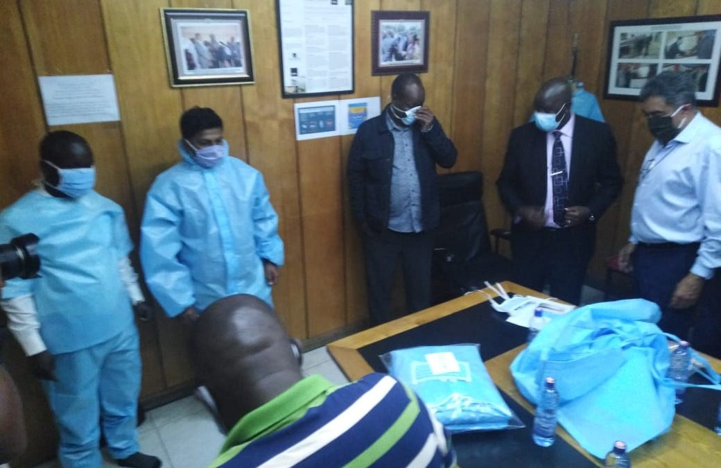 Nakuru Governor tours Bedi Factory approved to make PPE's
