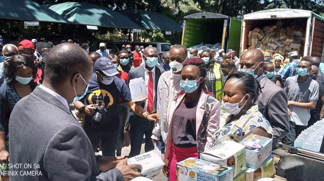 NAKURU COUNTY GOVERNMENT DISTRIBUTES FACE MASKS TO BEAUTY SALONS