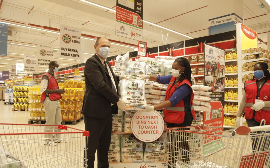 Carrefour Partners with Red Cross to support communities in Kenya Impacted by Covid-19