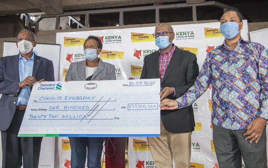 Standard Chartered Kenya contributes KES 122 million for COVID-19 emergency relief inKenya.