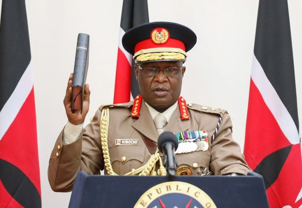 GEN. KIBOCHI SWORN-IN AS NEW CHIEF OF DEFENCE FORCES