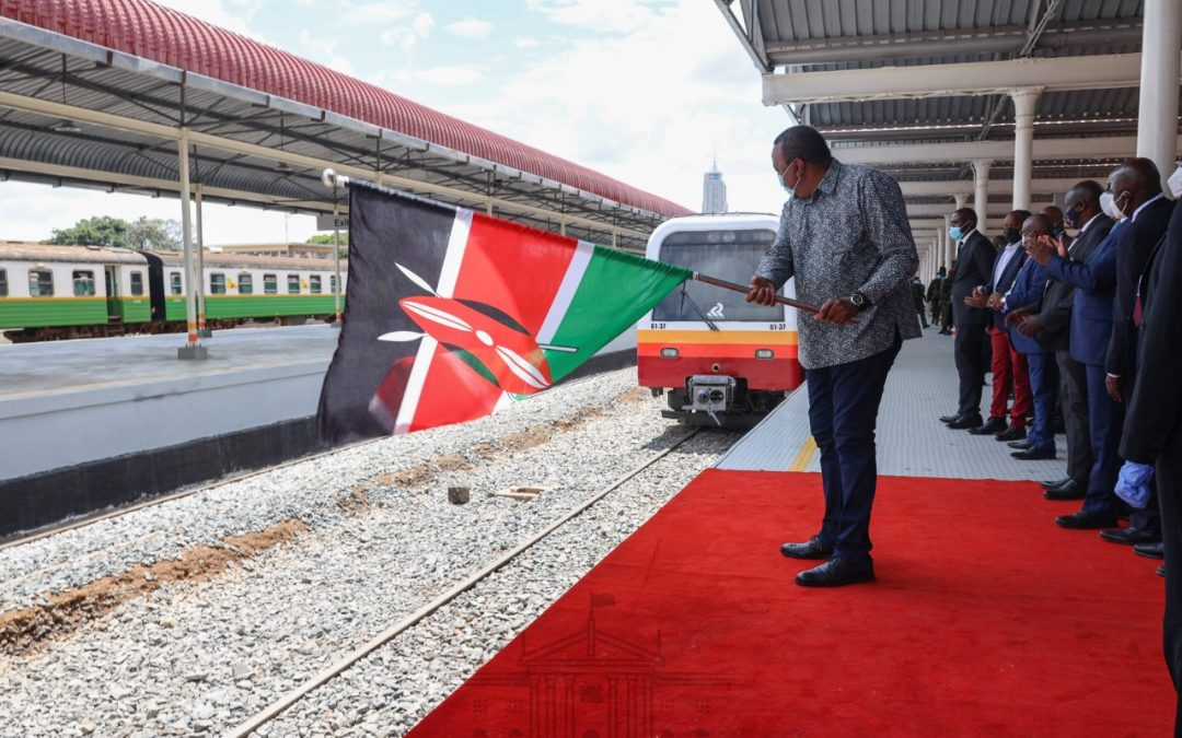 Pres. Uhuru launches modern Commuter train to decongest Nairobi roads