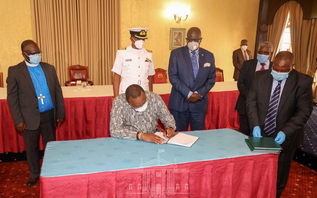 President Kenyatta awards Presbyterian University (PUEA) full charter