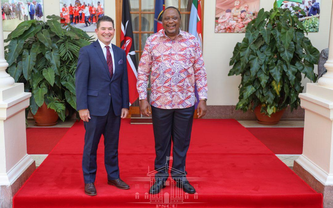 Pres.Uhuru Bids US Ambassador with pledge to conclude Free Trade Agreement