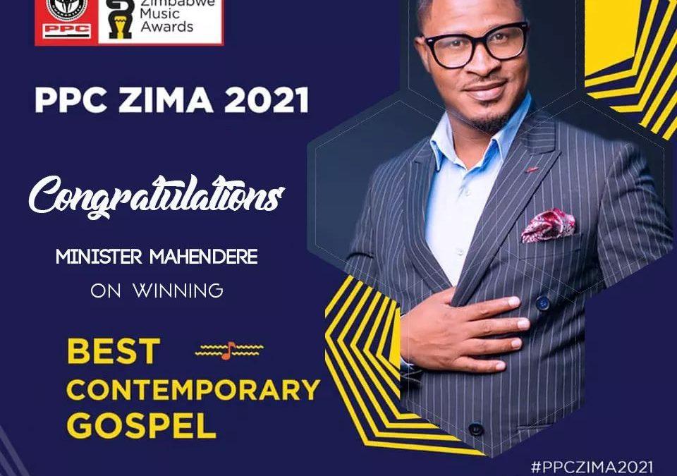 Minister Mahendere bags ZIMA Music awards 2021