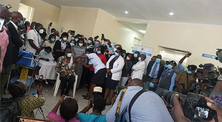 Health Director General becomes first Kenyan to take COVID 19 Vaccine
