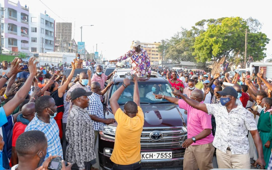 Raila in Mombasa to drum support for BBI