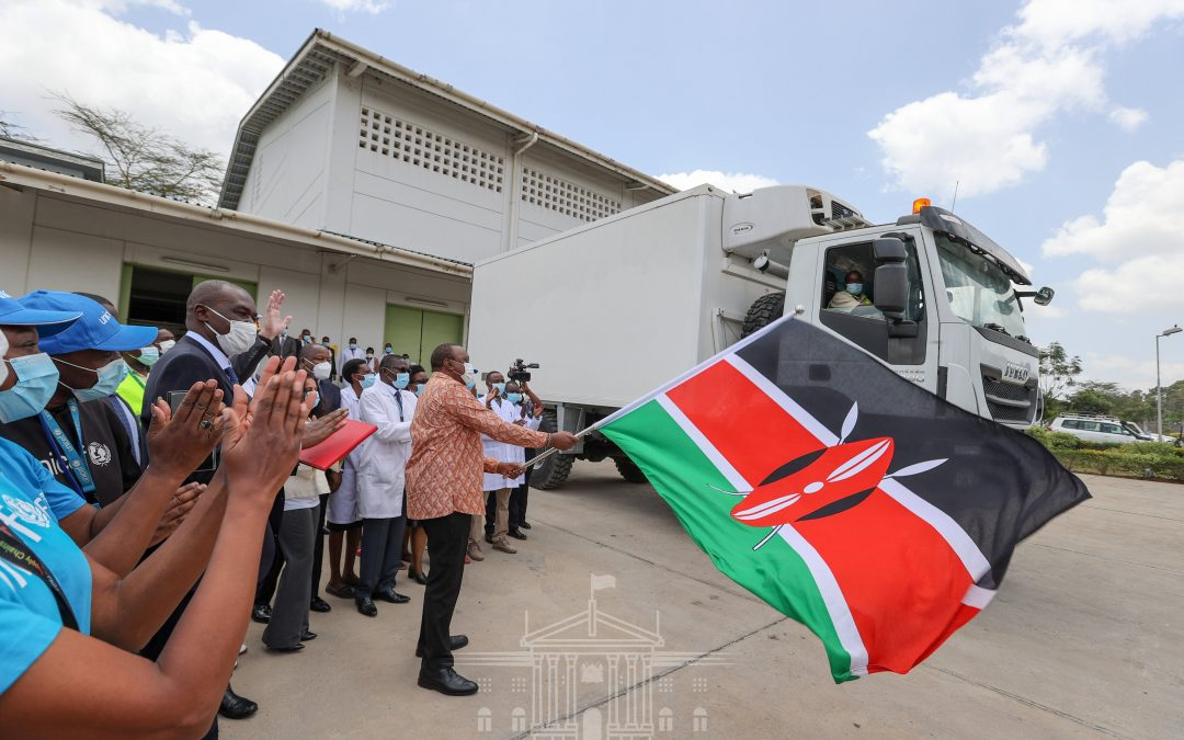 Pres. Uhuru Flags off COVID 19 Vaccine ahead national launch