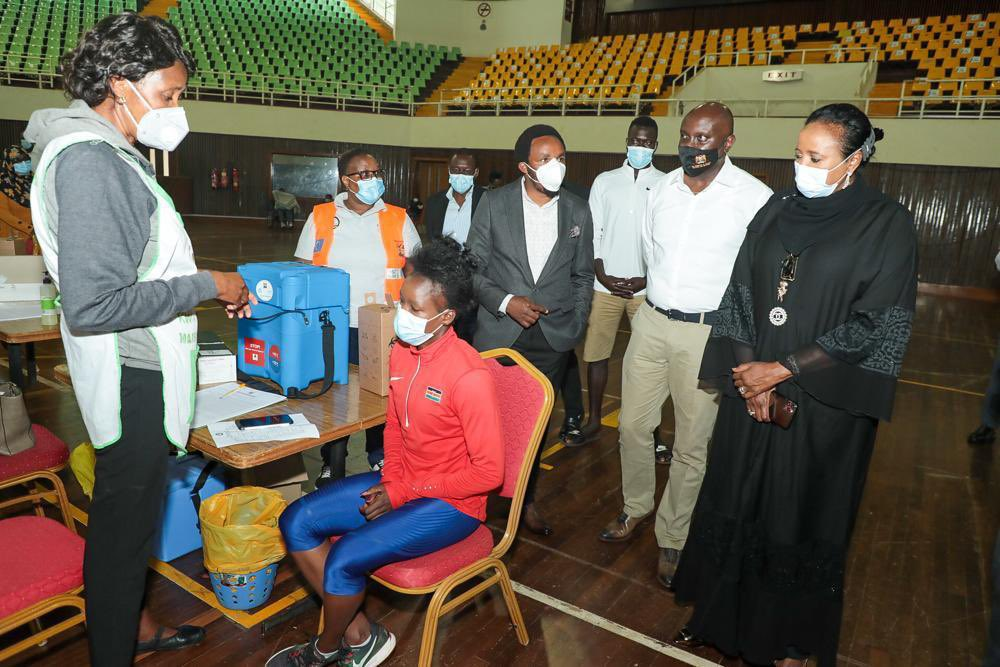 Sports CS presides over COVID 19 Vaccination of Kenyan Athletes