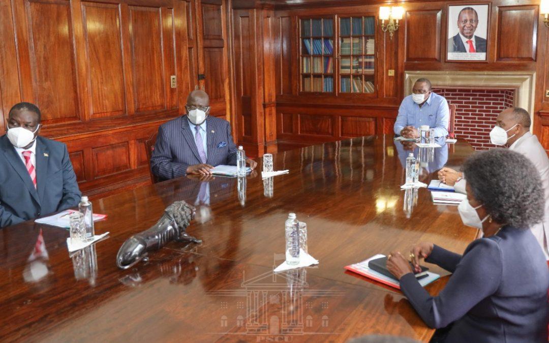 President Kenyatta receives KCSE results, witness swearing in of Prof Fatuma Chege