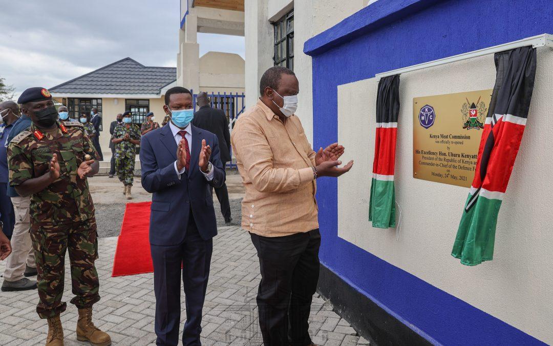 President Kenyatta applauds KDF for reviving Kenya Meat Commission