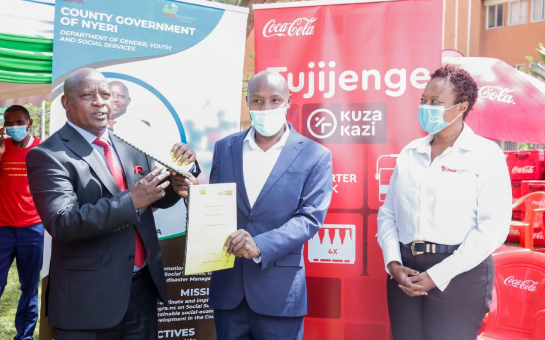 """Coca Cola partners with Nyeri County to launch """"Kuza Kazi"""" youth empowerment projects"""