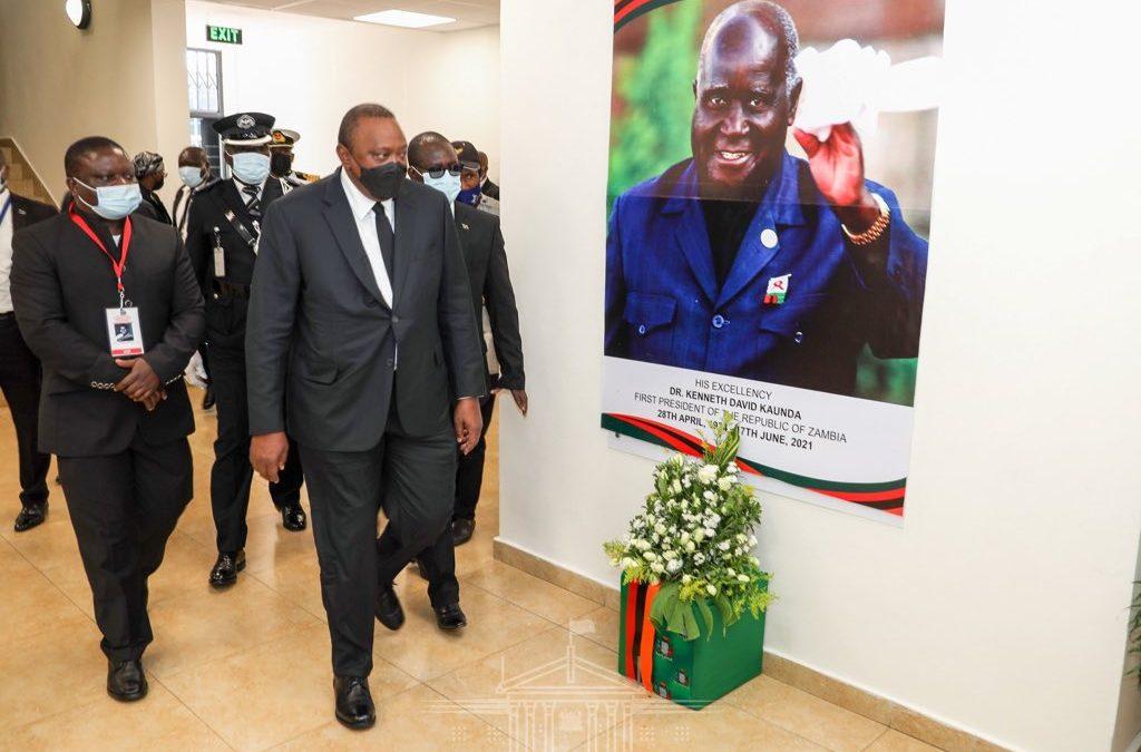 Pres. Kenyatta joins world leaders in Zambia for Kenneth Kaunda funeral